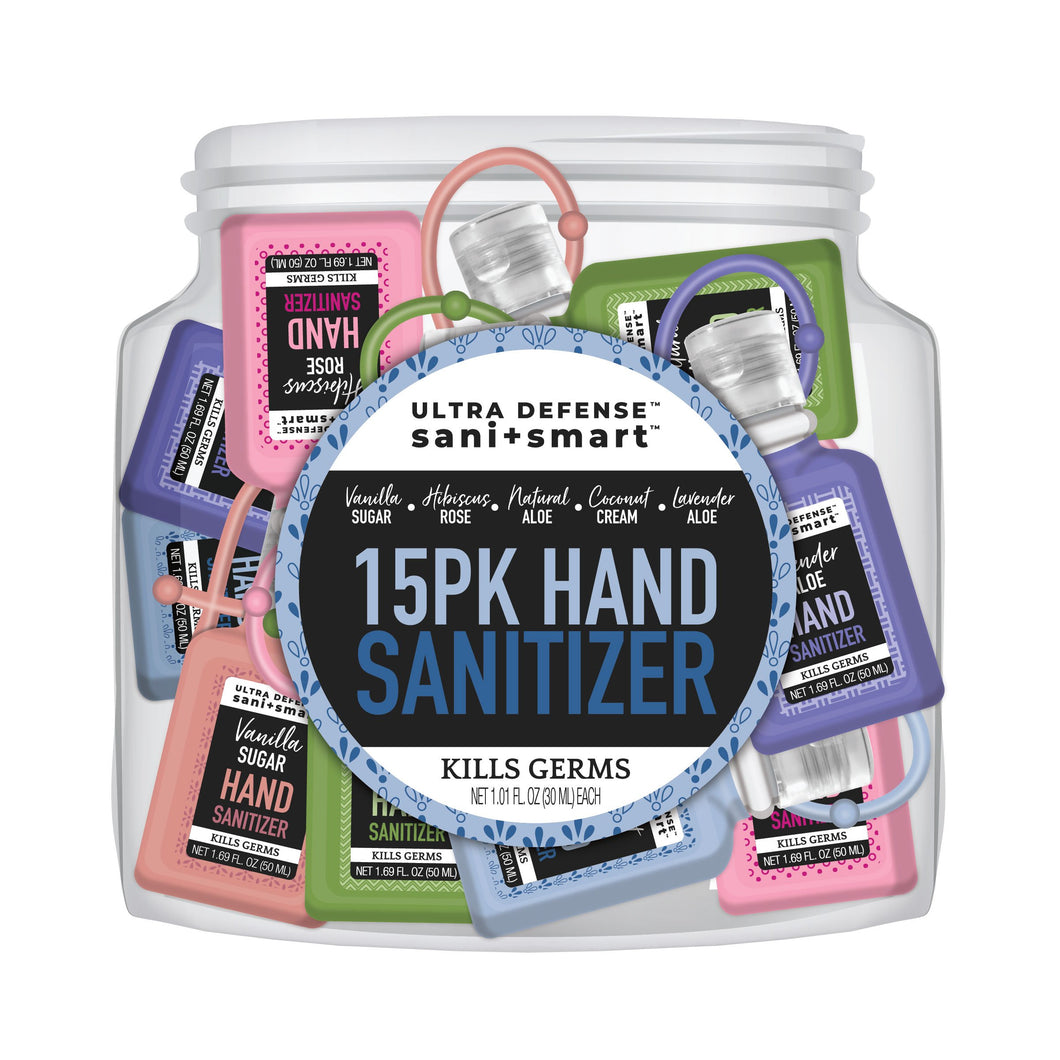Hand Sanitizer 15pc Cookie Jar Carabiner - 1 fl oz | Ultra Defense Sani+Smart