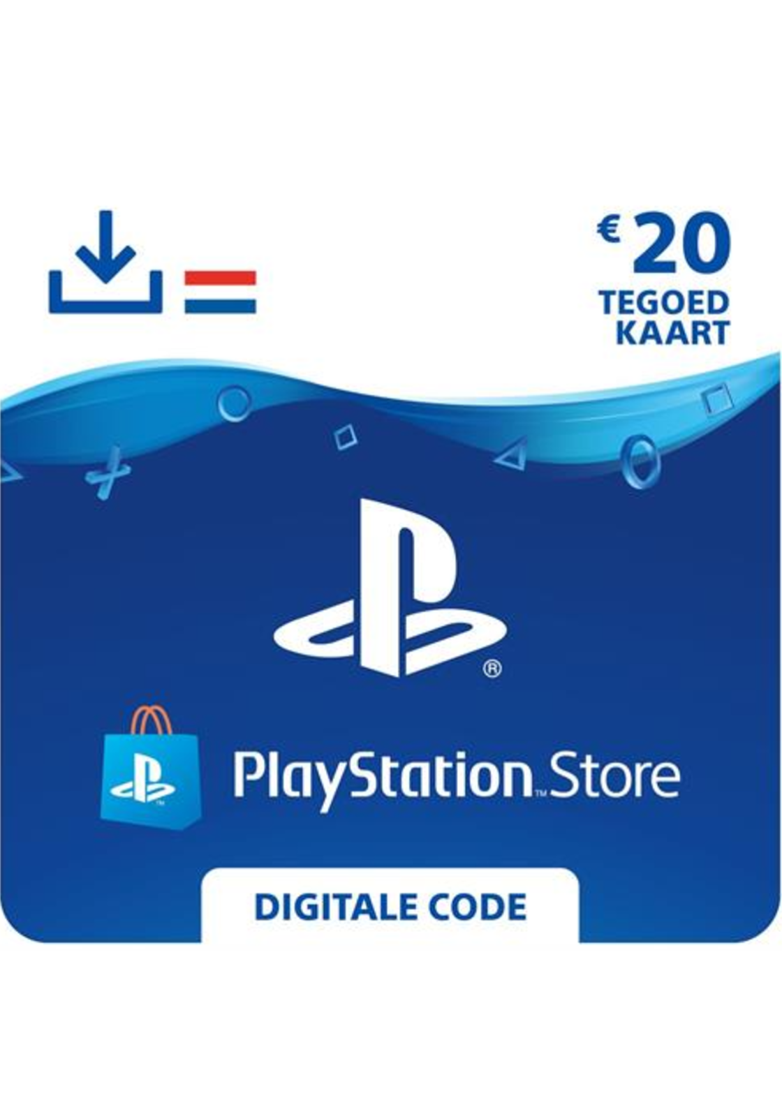 Playstation Giftcard 20 euro NL - PS4 Code