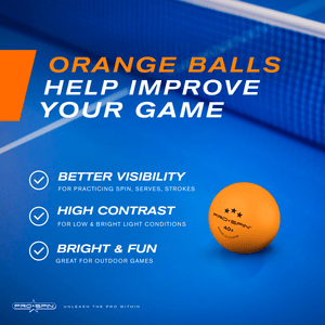Orange 3-Star Table Tennis Balls (12-Pack)