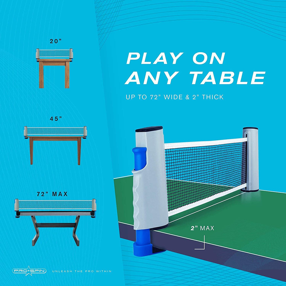 2-Player All-in-One Portable Table Tennis Set