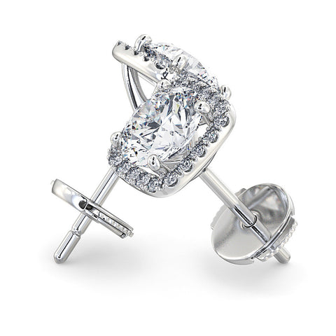 Diamond halo earrings - DuttsonRocks