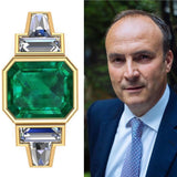1930's Style Emerald Deco Ring - DuttsonRocks