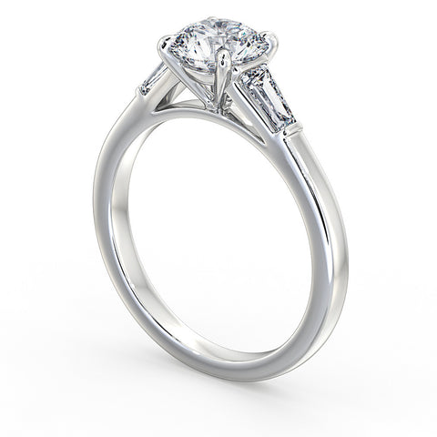 Classic Diamond ring with tapered Baguettes
