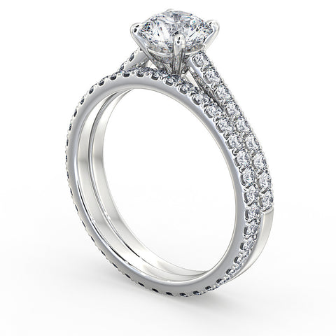 Diamond Engagement Ring & matching Wedding Ring