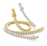 Diamond Tennis Bracelet, 18ct Yellow gold - DuttsonRocks