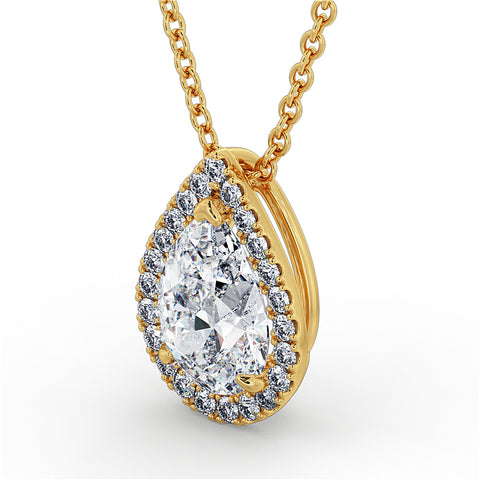 Pear Cut Diamond Pendant