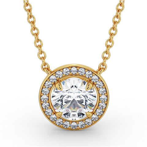 DUTTSONROCKS VINTAGE DIAMOND PENDANT (Yellow Gold)