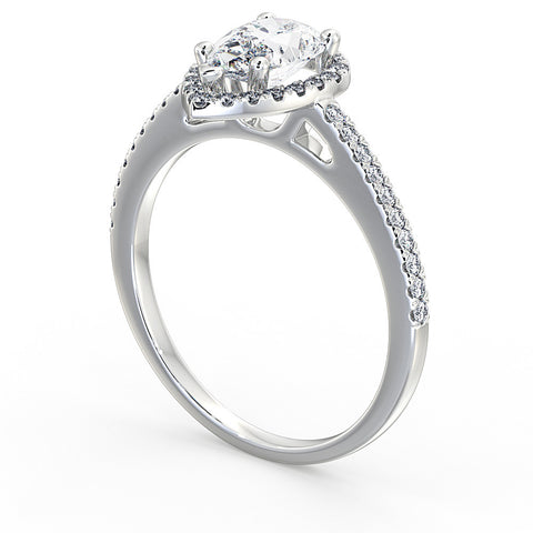 Pear Cut Diamond Halo Ring