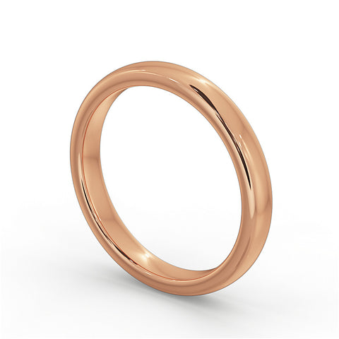 Rose Gold Wedding Ring 4mm