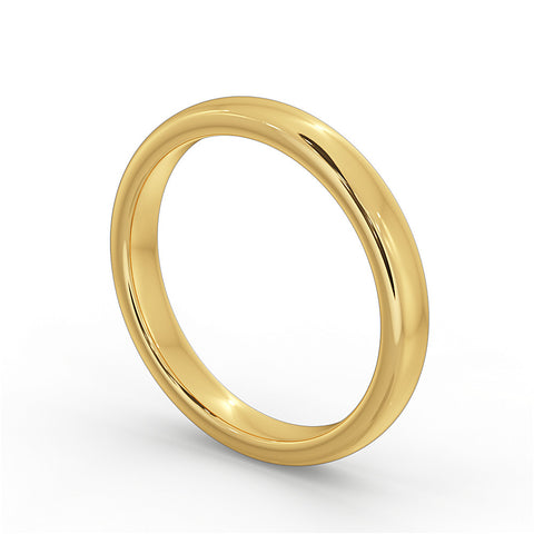 Yellow Gold Wedding Ring 4mm