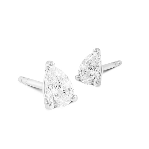 Pear Cut Diamond Studs - DuttsonRocks