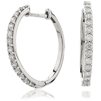 Micro Set Diamond hoops - DuttsonRocks