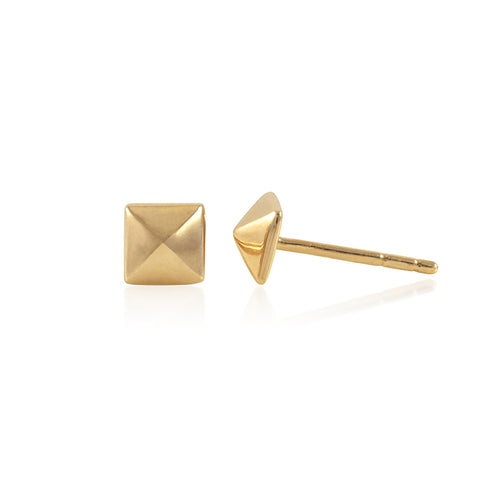 Louvre Yellow Gold Vermeil Stud