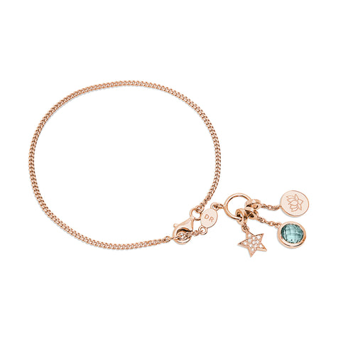 Lotus Flower Bracelet (Rose Gold Vermeil)