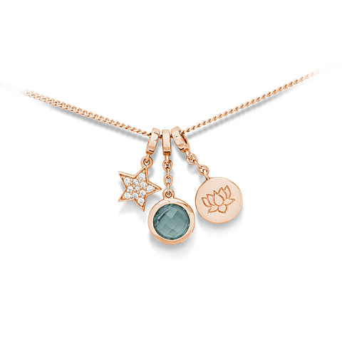 Lotus Flower necklace (Rose Gold Vermeil)