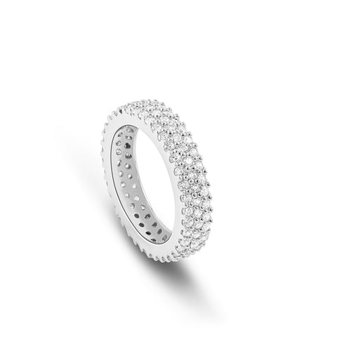 3 tier Pavé Diamond ring - DuttsonRocks