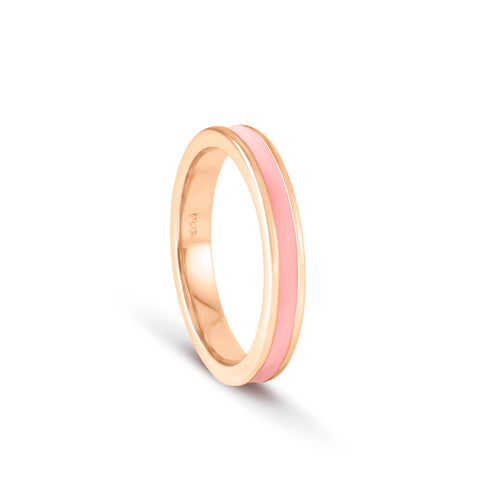 Shades of Summer Coral Enamel Ring