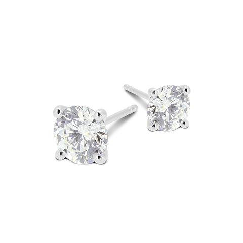 Classic Round Brilliant Cut Diamond Studs - DuttsonRocks