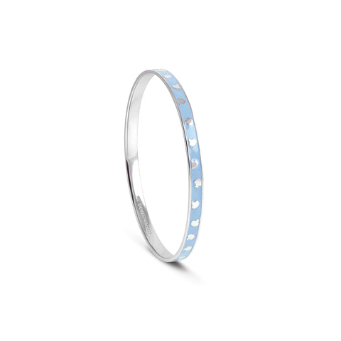 Powder Blue 'stacking' Shell Bangle