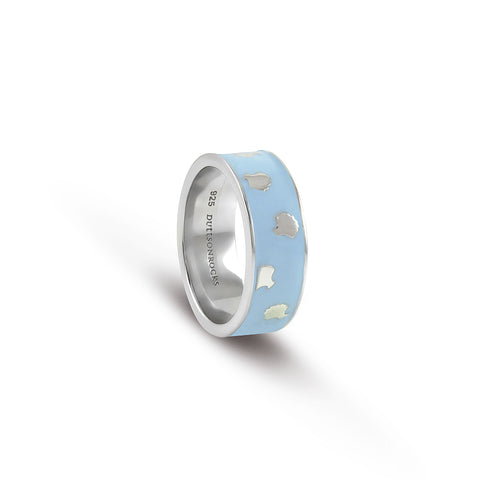 Powder Blue Shell ring