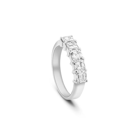 Square Emerald Cut Diamond Eternity Ring