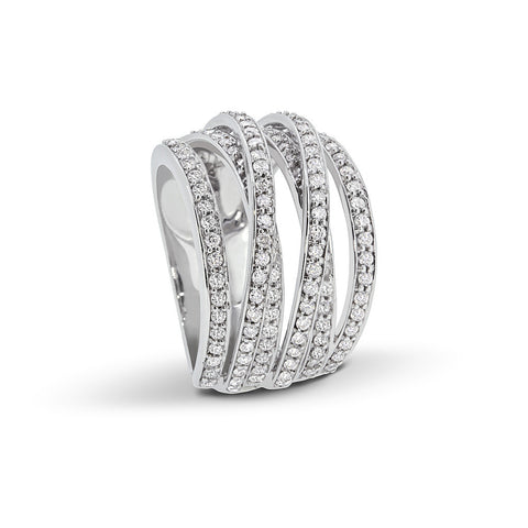 Twisted Layered Diamond Ring