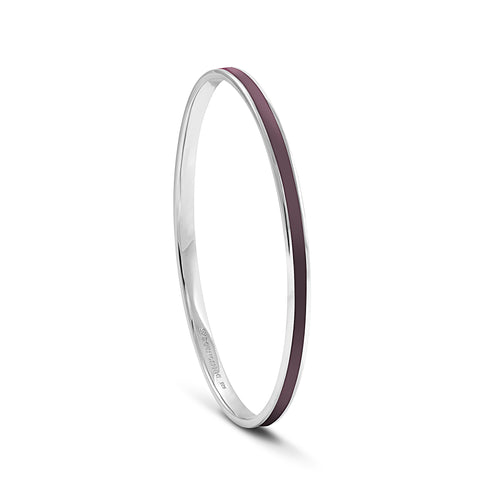 Equinox Aubergine Enamel Bangle