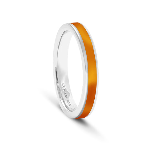 Equinox Burnt Orange Enamel Ring - DuttsonRocks