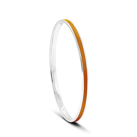 Equinox Burnt Orange Enamel Bangle