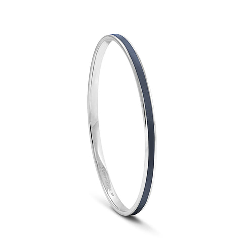Equinox Night Sky Blue Enamel Bangle