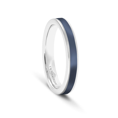 Equinox Night Sky Blue Enamel Ring