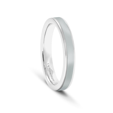Equinox Storm Cloud Grey Enamel Ring - DuttsonRocks