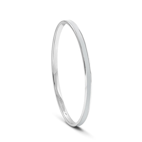 Equinox Storm Cloud Grey Enamel Bangle