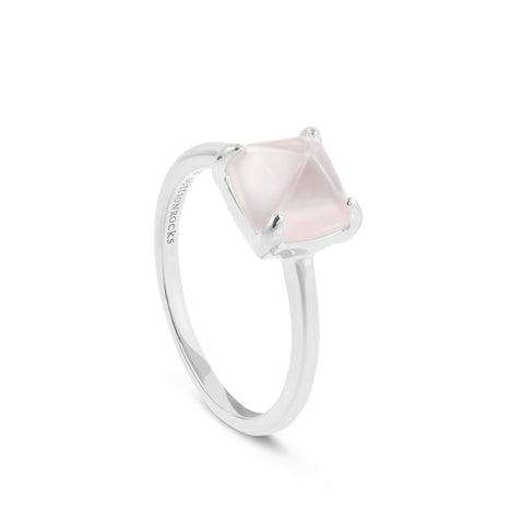 Louvre Rose Quartz Ring - DuttsonRocks