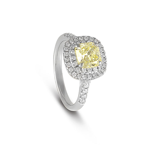 Vintage Yellow Diamond Ring - DuttsonRocks