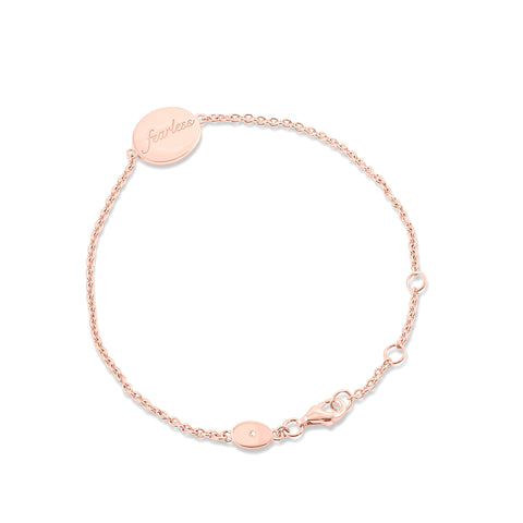 Fearless Disc Bracelet in Rose Gold Vermeil