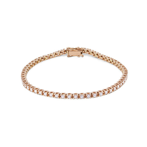 Diamond Tennis bracelet (Rose  Gold)