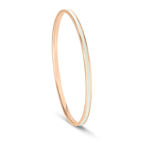 Shades of Summer Pistachio Enamel Bangle