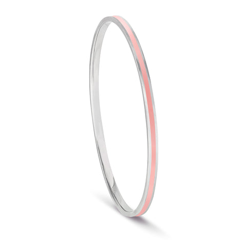 Shades of Summer Coral Enamel Bangle