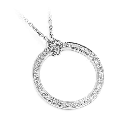 Infinity White Gold & Diamond Necklace