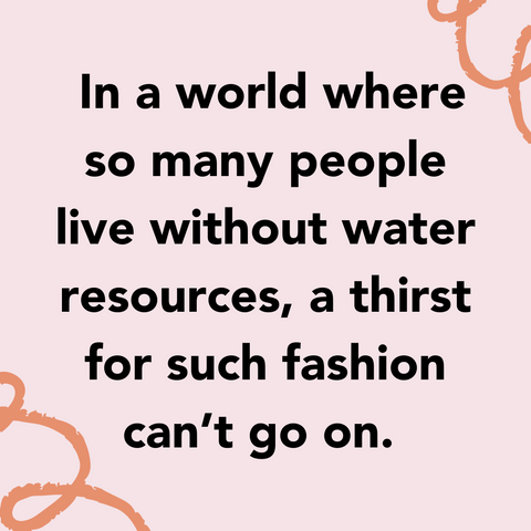 Conscious Consumerism in Fashion - Clothes production is very water intensive - Selfmade Candle
