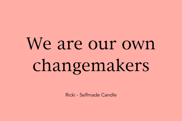 We are our own change markers