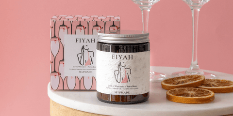 fiyah | selfmade candle | galentines