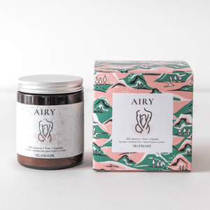 AIRY | Christmas Candles | Luxury Scented Candle | Soy Candle | Vegan Candle | Pine Soft Jasmine Cypress