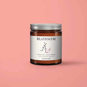 Blossom Scented Candle - Natural Soy wax infused with Orange Flower, Jasmine and Patchouli essential oils