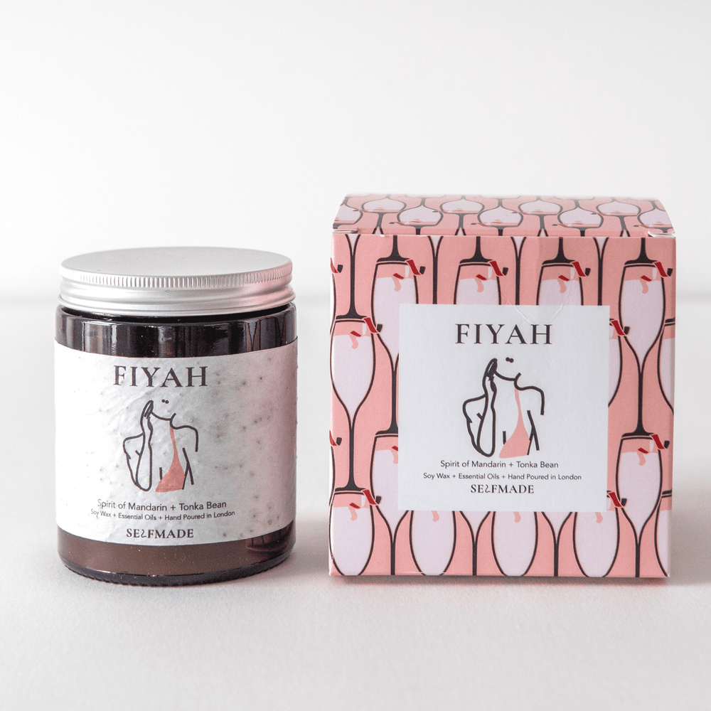 FIYAH | Luxury Scented Candle | Soy Candle | Vegan Candle | Mandarin and Tonka
