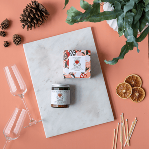 Naughty & Nice Mulled wine scented candle uk | Vegan