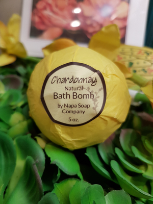 Chardonnay Bath bomb- Napa soap Co.