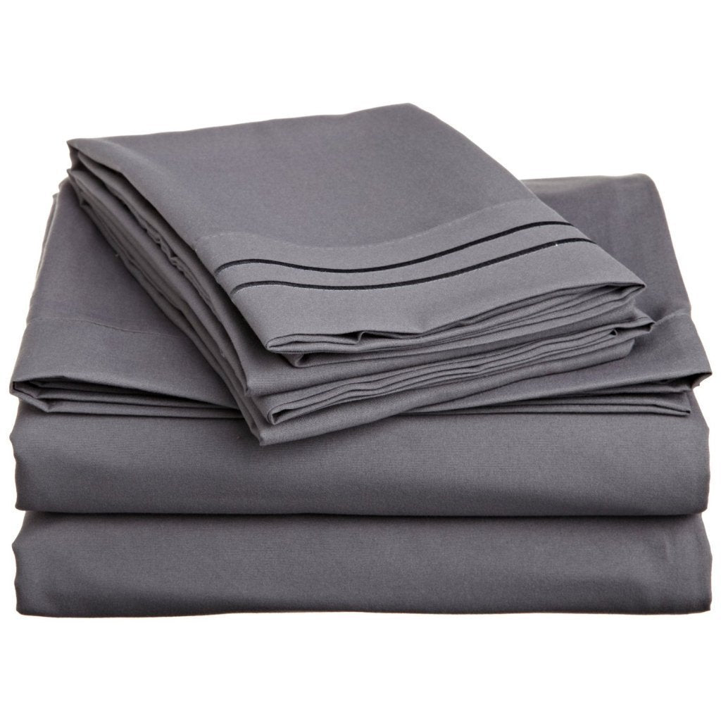Clara Clark 1800 Sheet set in Charcoal grey