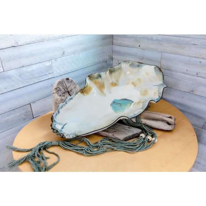 large oyster shell bowl